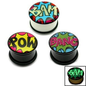 Multi-pack - Acrylic Comic Plugs