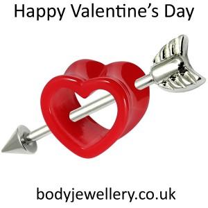 St Valentine's Day Body Jewellery