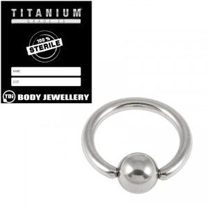 Sterile Titanium BCR with Titanium Ball