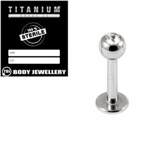 Sterile Titanium Jewelled Labrets