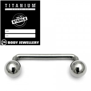 Sterile Titanium Surface Barbell