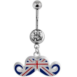 Belly Bar - Union Jack Moustache