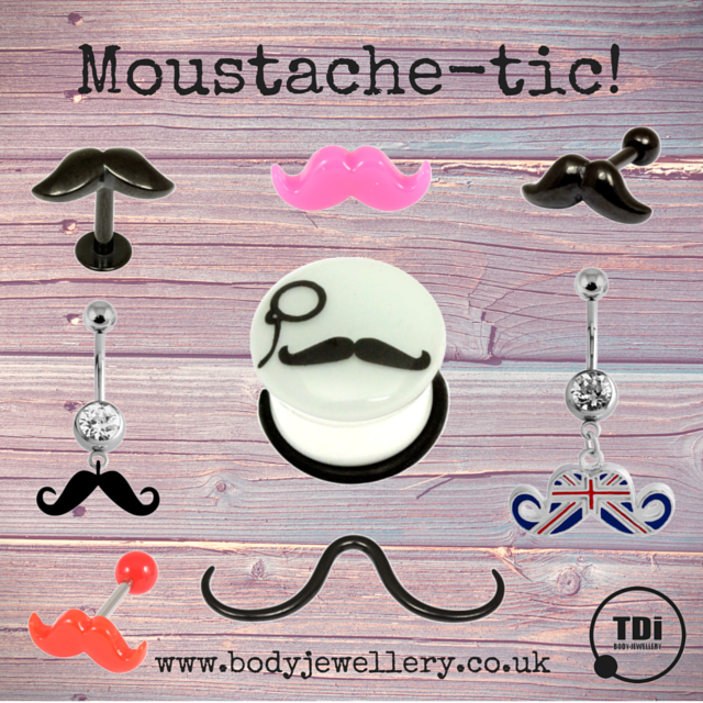 Moustache-tic! Moustache Body Jewellery