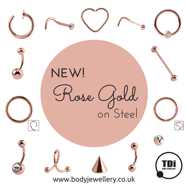 Rose Gold on Steel Body Jewellery