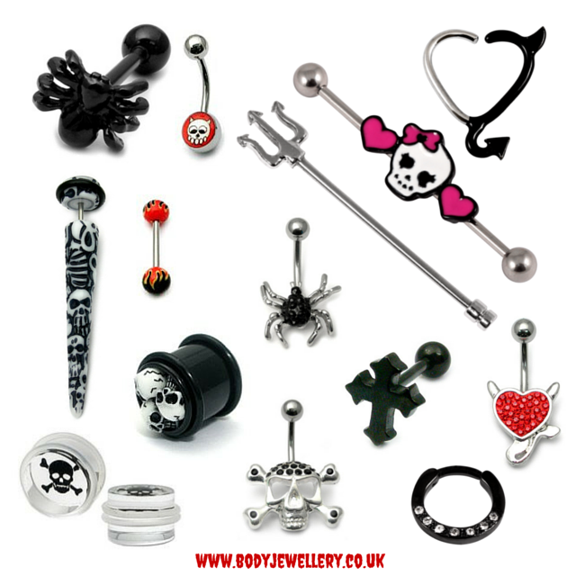 Halloween Body Piercing Jewellery