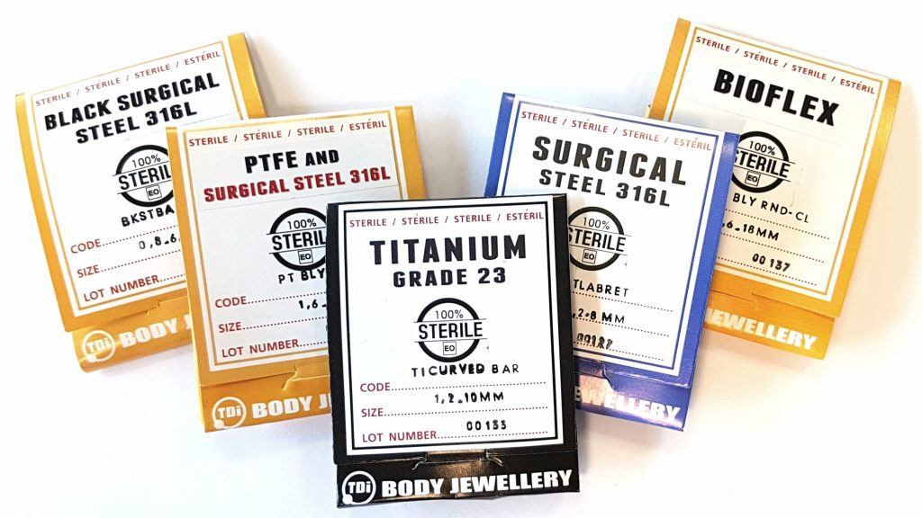 Sterile TDI Body Jewellery Types Group